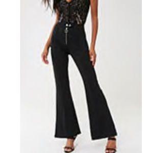 Black flare pants